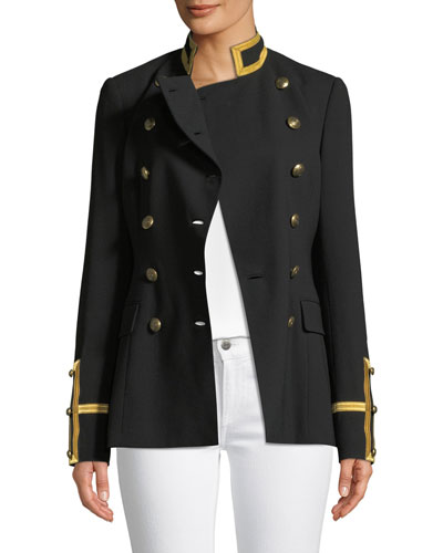 Bryer Double-Breasted Military-Style Jacket