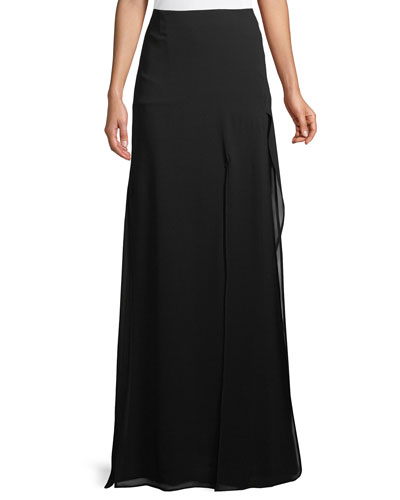 Silk Georgette Maxi Skirt