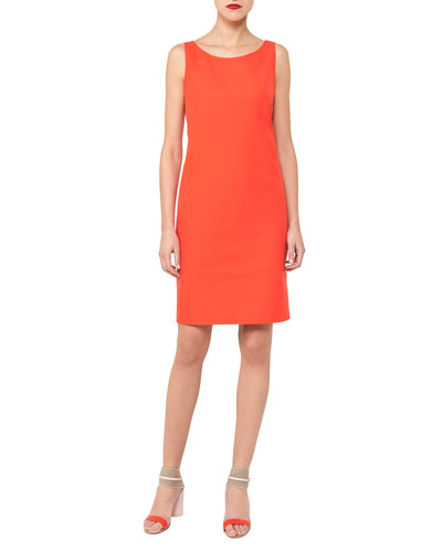 Reversible Double-Face Sheath Dress