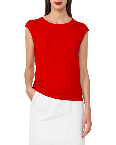 Cap-Sleeve Cotton Top
