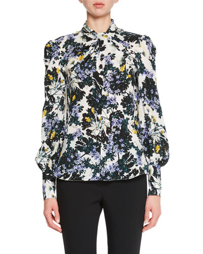 Fayola Twisted Floral Blouse
