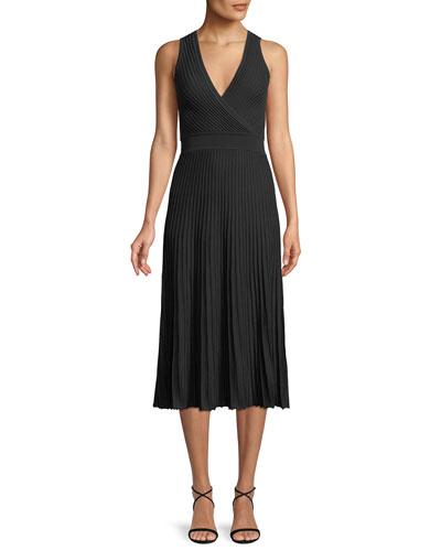 Abito Cala Luna Ribbed Midi Dress