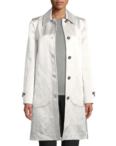 Reversible Shiny Linen Coat