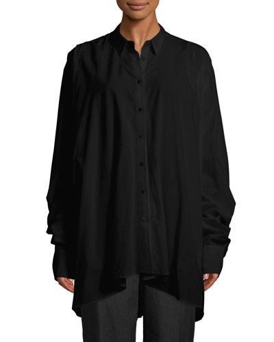 Long-Sleeve Lantern Shirt