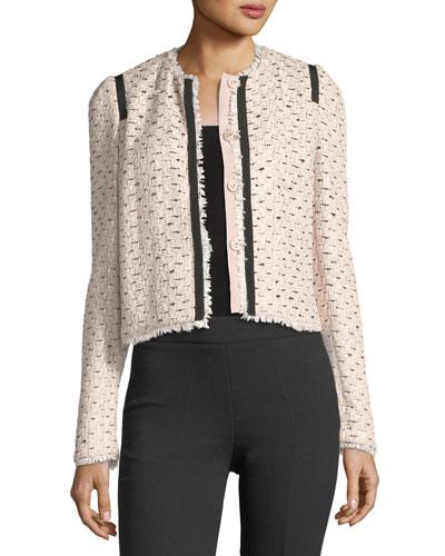 Raw-Edge Tweed Jacket