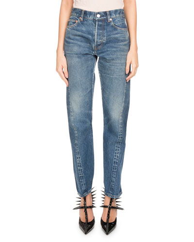 Twisted Tapered Jeans