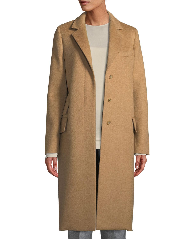 Single-Breasted Camel-Hair Coat