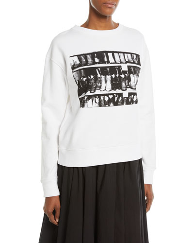 Andy Warhol Cowboy Boots Crewneck Cotton Sweatshirt