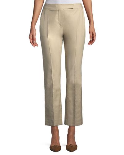 Mirto Straight-Leg Cropped Cotton Pants