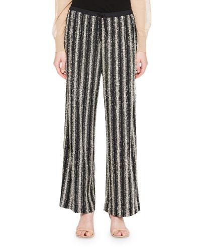 Puvis Metallic Knit Pants