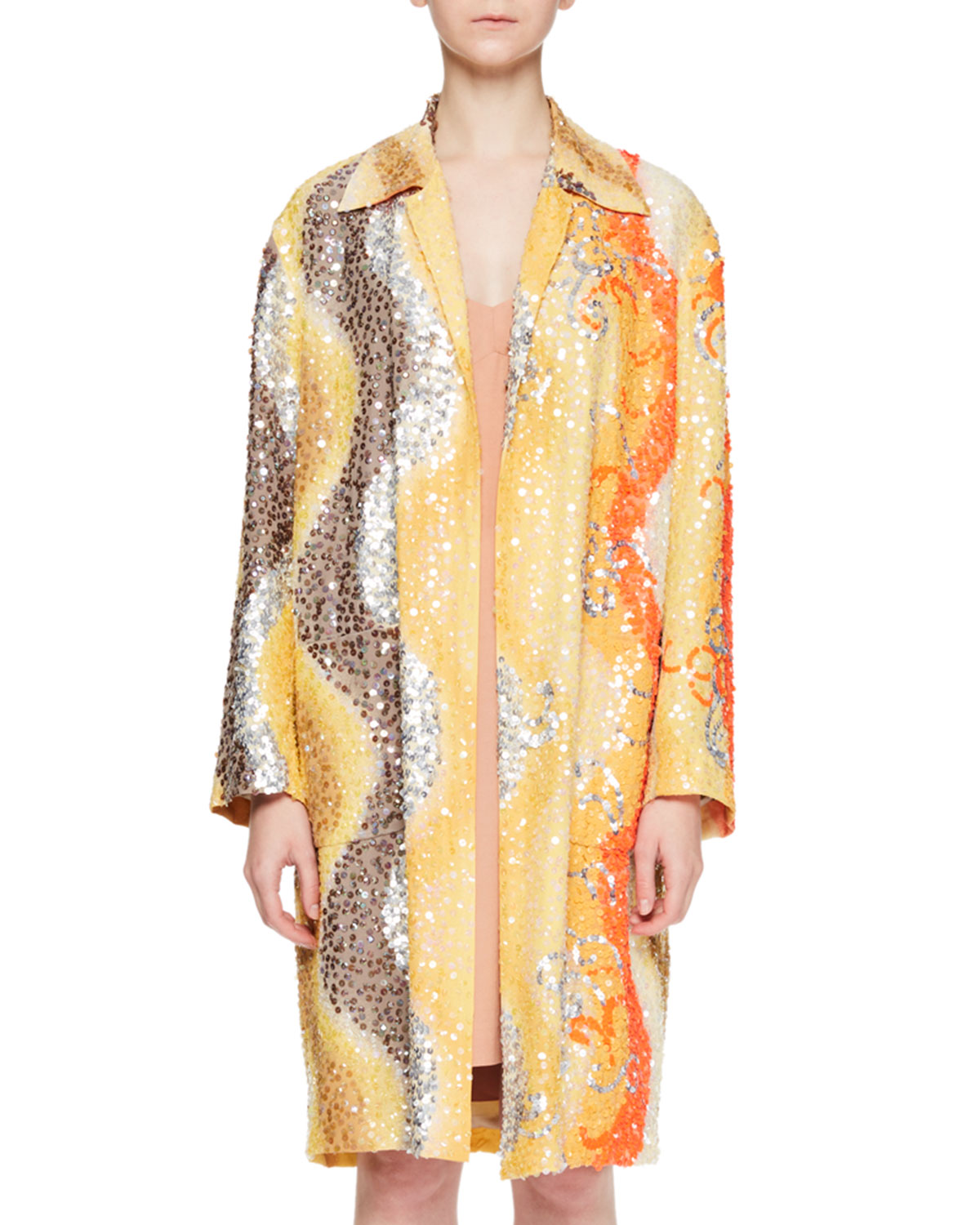 Ricard Wavy Sequin Top Coat