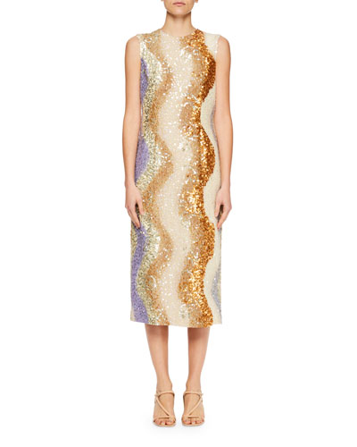 Daem Sequined Sheath Dress