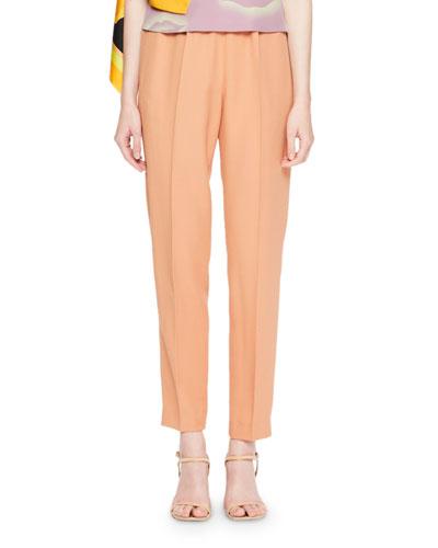 Palmira Side-Drape Foulard Pants