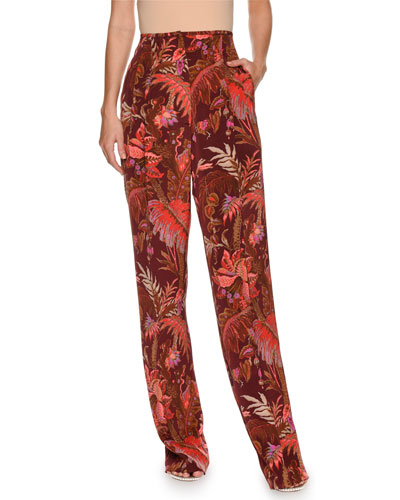 Paisley Silk Trousers