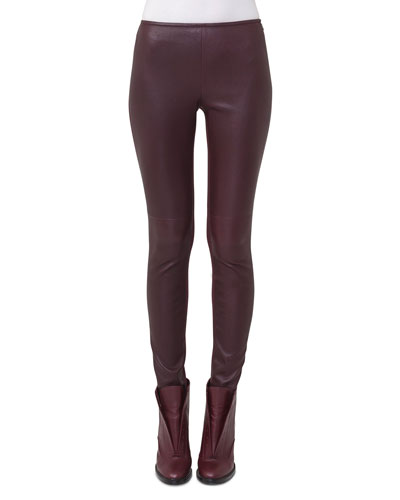 Napa Leather Skinny Pants
