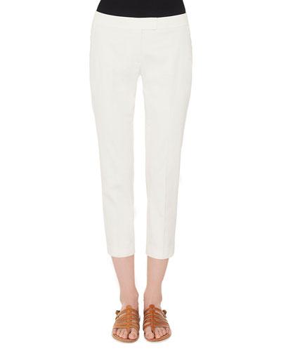 Frances Skinny Cotton Gabardine Cropped Pants
