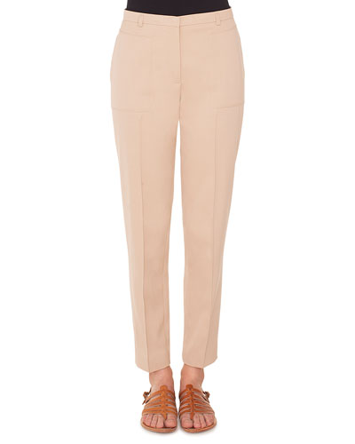 e61acc32a5c9 Colin Straight-Leg Cotton-Silk Gabardine Pants Quick Look. Akris