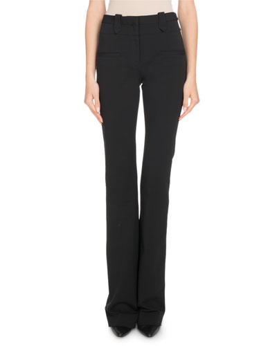High-Waist Boot-Cut Jersey Pants