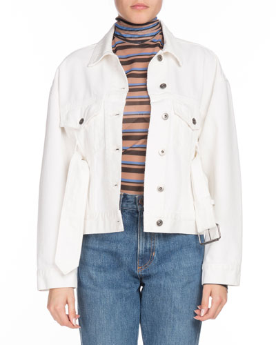 PSWL Belted Button-Down Denim Jackets