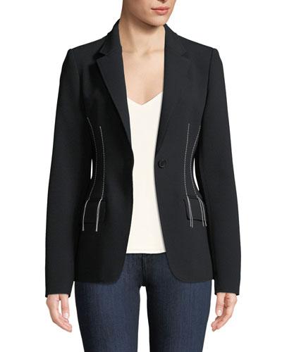 Compact Crepe Blazer Jacket