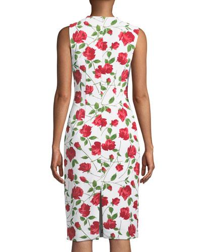 Michael Kors Collection Sleeveless Stemmed-Rose Print