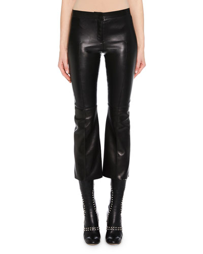 Kickback Stretch-Leather Cropped Pants