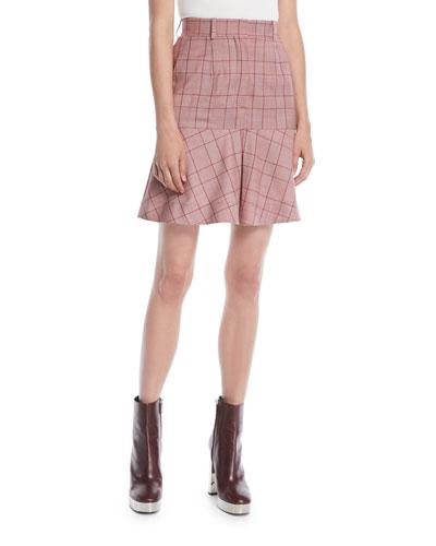df5bd224799 High Waist Wool Skirt