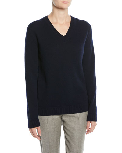 V-Neck Long-Sleeve Cashmere Sweater Quick Look. Ralph Lauren Collection