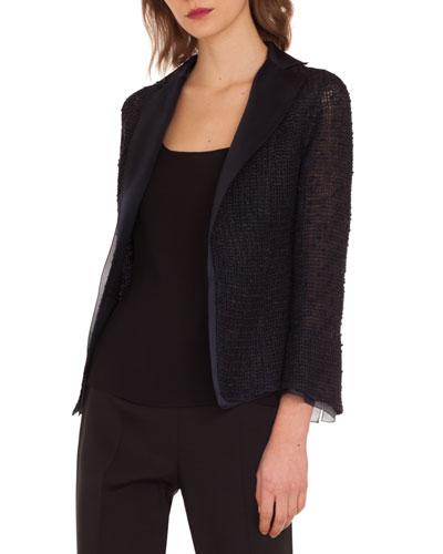 Tweed Open-Front Jacket