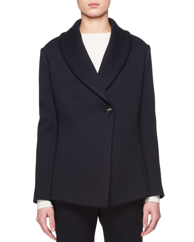 Noph Shawl-Collar One-Button Jacket