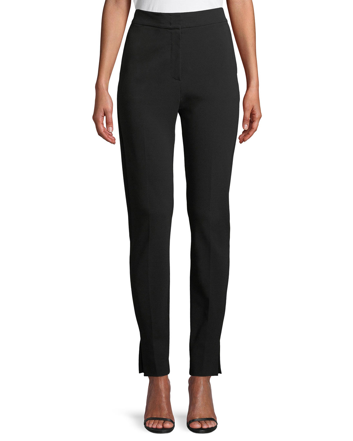 Lembo High-Waist Straight-Leg Crepe Pants