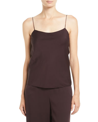 Biggins Scoop-Neck Silk Camisole Top