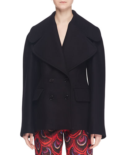 Double-Breasted Wool-Blend Jacket