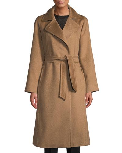 Manuela Belted Camel Hair Coat, Camel