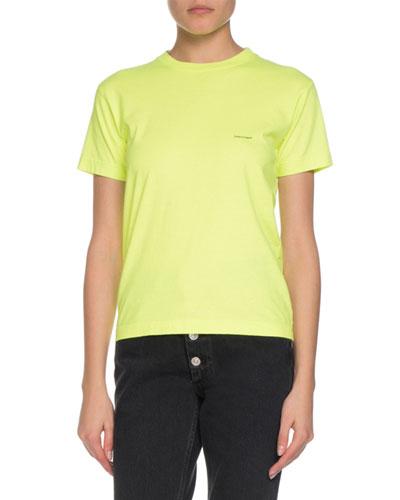 Short-Sleeve Shrunken Lowercase Logo T-Shirt