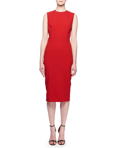 Fitted Polyester Dress