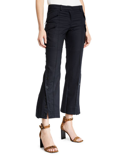 Cropped Flared Cargo Pants