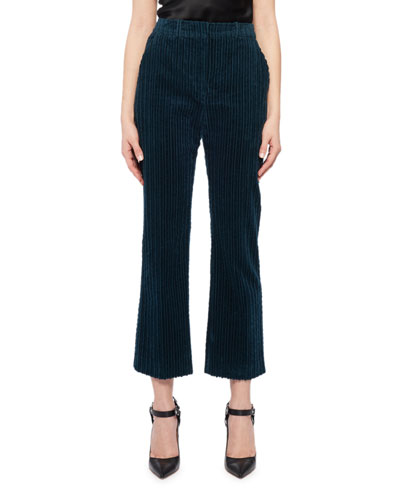 Cropped Pants in Velvet Corduroy