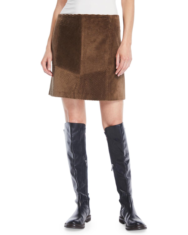 Jumbo Corduroy Mini Skirt