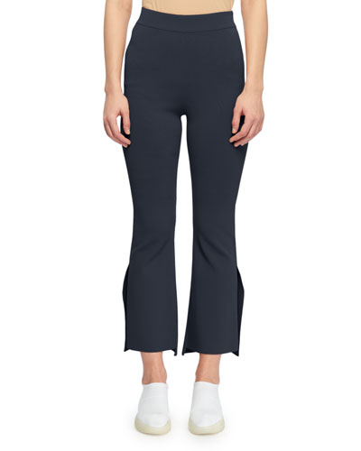 5719a5fab53 High-Waist Formfitting Side-Slit Ankle-Length Pants