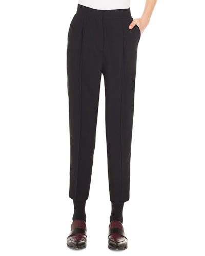 Maiko Tapered-Leg Ankle Viscose-Blend Pants