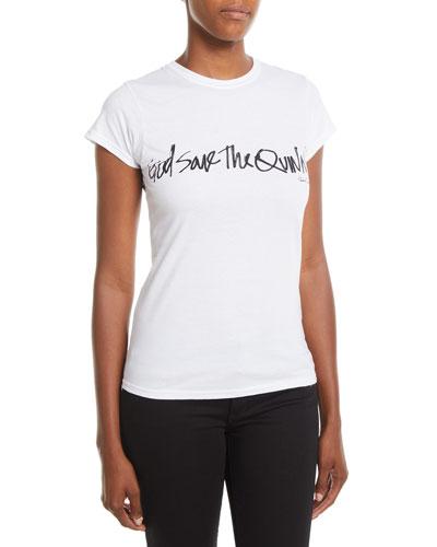 God Save The Quinn Crewneck Short-Sleeve Cotton Tee
