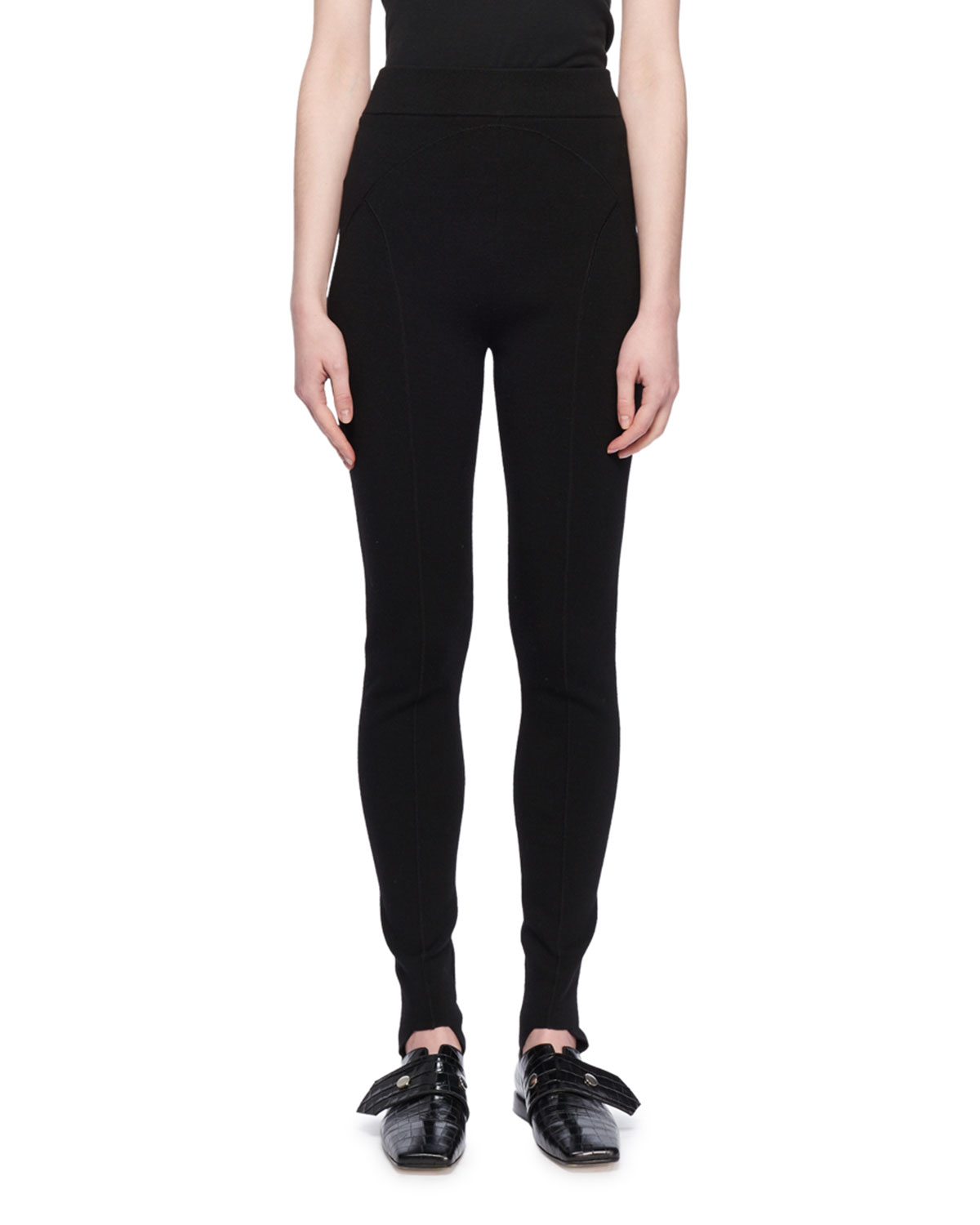 Victoria Beckham Pants WOOL-BLEND STIRRUP LEGGINGS