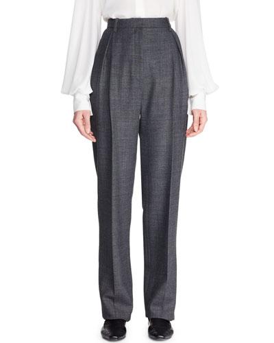 7b235535026 Brina High-Waist Tapered-Leg Wool-Blend Pants