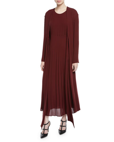4154fcd9b98 Long-Sleeve Georgette Dress Quick Look. Valentino