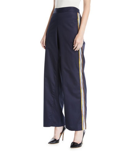 Side-Striped Pajama Pants