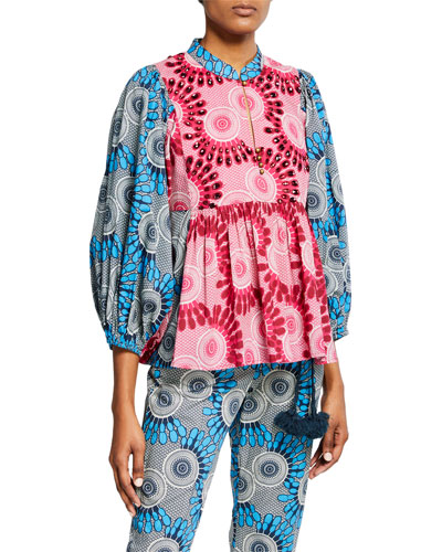 Nora Moon Floral Blouse