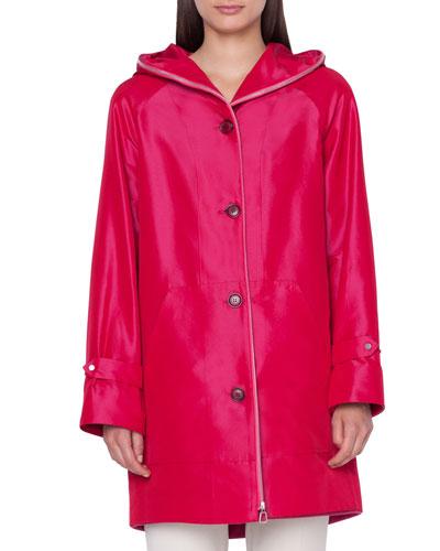 Bellevue 2-in-1 Short Coat w/ Cashmere Bib