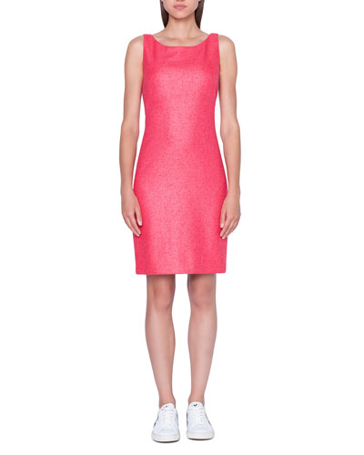 Cashmere/Silk Woven Pencil Dress