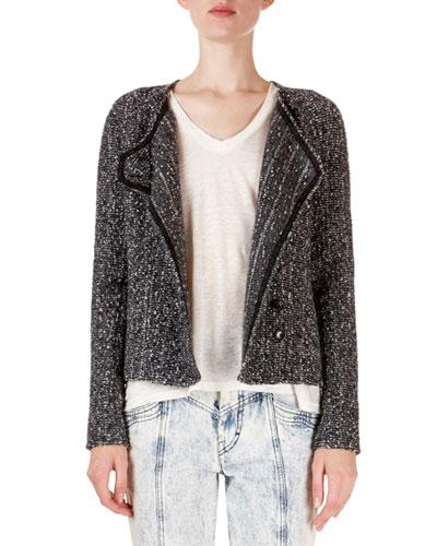 Helba Asymmetric Boucle Jacket